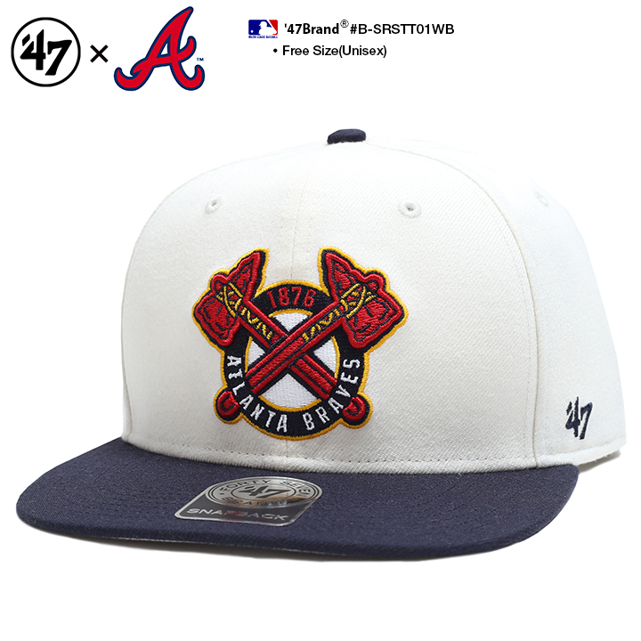 66a5b7e63 Fashion men gap Dis cap forty seven brand 47BRAND CAP snapback baseball  ball cap embroidery MLB Major League Atlanta Braves curve regular article  gift ...