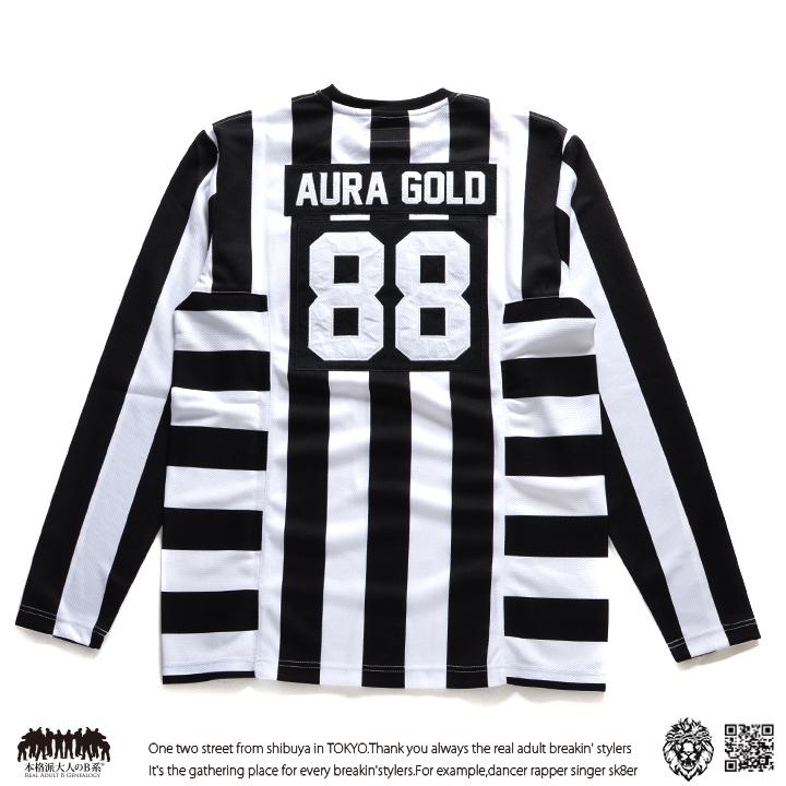 b派嘻哈街道系的时装人分歧D游戏衬衫≪88 SOCCER JERSEY≫气氛黄金AURA GOLD足球衬衫制服体育MIX网丝运动衫大的尺寸正规的物品02P03Dec16