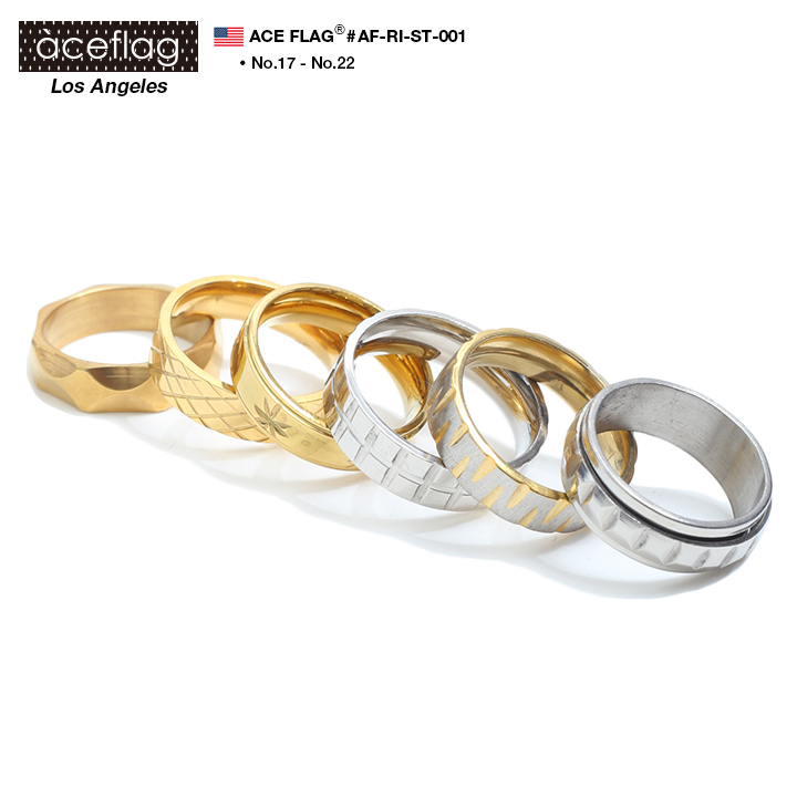 <title>17号-22号 ランキング1位獲得 セール ACEFLAG 海外 ステンレス リング 選べる6種類 AF-RI-ST-001 17号から22号 シンプル 金色 銀色 指輪 錆びにくく変色しにくい エースフラッグ ライン柄 メンズ レディース プレゼントにも最適 ステンレスリング Stainless ギフト</title>