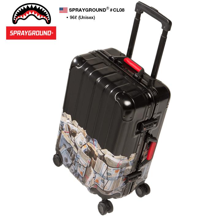 【送料無料】b系 ヒップホップ ストリート系 メンズ レディース キャリーバッグ スーツケース 【CL08】 スプレーグラウンド SPRAY GROUND 96L 旅行 出張 帰省 軽量 TSAロック バック バッグ BAG おしゃれ 高機能 大型 大容量 ドル柄 正規品 ギフト