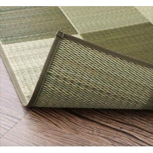 ●ポイント6.5倍●厚みが選べる3タイプ 純国産ブロック柄い草ラグ casule カジュール ウレタンなし 191×250cm[4D][00]