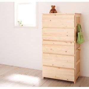 ●ポイント6倍●天然木シンプルデザインキッズ家具シリーズ Primaria プリマリア チェスト[4D][00]