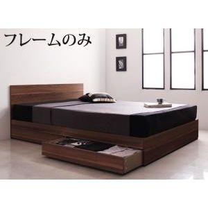 ●ポイント4.5倍●シンプルモダンデザイン・収納ベッド Pleasat プレザート ベッドフレームのみ ダブル[L][00]