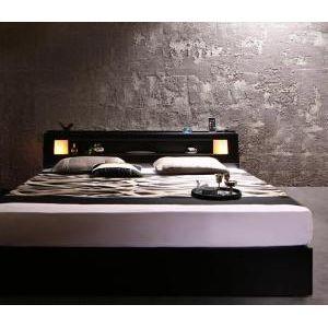 ●ポイント4.5倍●モダンデザイン・キングサイズ収納ベッド Leeway リーウェイ マルチラススーパースプリングマットレス付き キング(SS+S)[L][00]