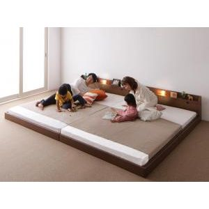 超美品再入荷品質至上 ポイント増量中 ポイント4.5倍 親子で寝られる棚 照明付き連結ベッド JointJoy ジョイント ジョイ ワイドK240 代引不可 ボンネルコイルマットレス付き 00 豪華な SD×2 4D