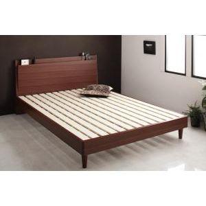 ●ポイント4.5倍●棚・コンセント付きスリムデザインすのこベッド slim&sharp スリムアンドシャープ ベッドフレームのみ ダブル[L][00]