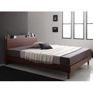 ●ポイント4.5倍●棚・コンセント付きスリムデザインすのこベッド slim&sharp スリムアンドシャープ スタンダードボンネルコイルマットレス付き ダブル[L][00]