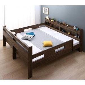 ●ポイント4.5倍●ずっと使える!2段ベッドにもなるワイドキングサイズベッド Whentoss ウェントス 薄型軽量ボンネルコイルマットレス付き ワイドK200[L][00]