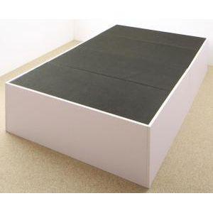 ●ポイント5倍●大容量収納庫付きベッド SaiyaStorage サイヤストレージ ベッドフレームのみ 浅型 ホコリよけ床板 セミダブル[00]