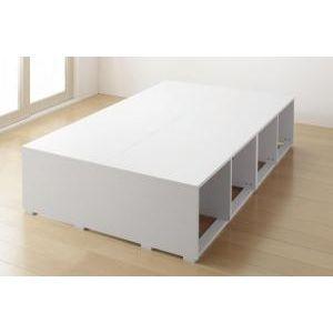 ●ポイント4.5倍●布団で寝られる大容量収納ベッド Semper センペール ベッドフレームのみ 引き出しなし ハイタイプ セミダブル[00]