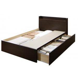 ●ポイント4.5倍●組立設置付 連結 棚・コンセント付すのこ収納ベッド Ernesti エルネスティ ベッドフレームのみ Aタイプ セミダブル[4D][00]