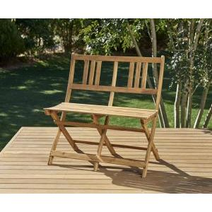 ●ポイント7.5倍●ベンチのサイズが選べる アカシア天然木ガーデンファニチャー Efica エフィカ ガーデンベンチ 2P[4D][00]