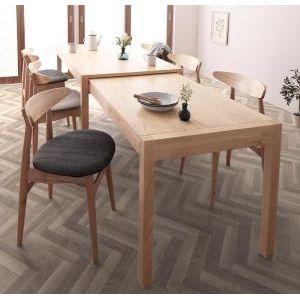 ●ポイント5倍●北欧デザイン スライド伸縮テーブル ダイニングセット SORA ソラ 7点セット(テーブル+チェア6脚) W135-235[L][00]