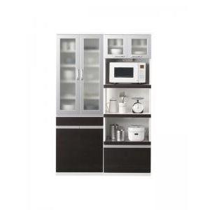 ●ポイント5倍●開梱設置付 奥行41cmの薄型モダンデザインキッチン収納 Sfida スフィーダ 食器棚+キッチンボードセット 幅60+60[4D][00]