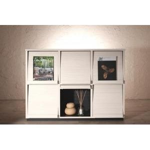 ●ポイント4.5倍●低めで揃える壁面収納ハイタイプテレビ台シリーズ Flip side フリップサイド フラップチェスト 3列2段[1D][00]