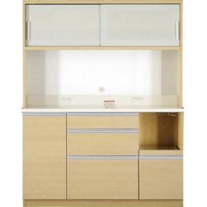 ●ポイント5倍●大型レンジ対応 清潔感のある印象が特徴のキッチンボード Ethica エチカ キッチンボード 幅140 高さ178[4D][00]