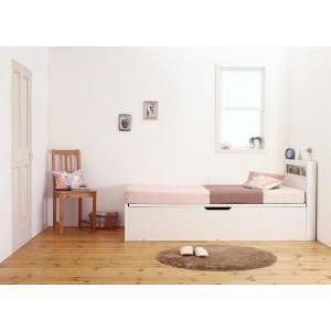 ●ポイント5倍●組立設置 小さな部屋に合うショート丈収納ベッド Odette オデット 薄型スタンダードボンネルコイルマットレス付き シングル ショート丈 深さグランド[4D][00]