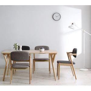●ポイント6.5倍●北欧ナチュラルモダンデザイン天然木ダイニングセット Wors ヴォルス 5点セット(テーブル+チェア4脚) W140[L][00]
