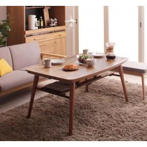 ●ポイント5倍●高さ調整 棚付きデザインこたつテーブル Kielce キェルツェ 4尺長方形(80×120cm)[00]