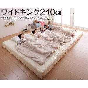 ●ポイント5倍●豊富な6サイズ展開 厚さが選べる 寝心地も満足なひろびろファミリーマットレス ワイドK240 厚さ6cm[4D][00]