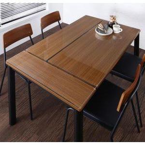●ポイント5.5倍●異素材ミックスカフェスタイルダイニング paint ペイント ダイニングテーブル W130[1D][00]