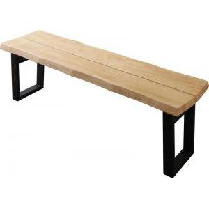 ●ポイント5倍●天然木無垢材ヴィンテージデザインダイニング NELL ネル ベンチ 3P(単品)[4D][00]