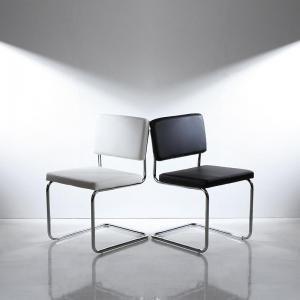 ●ポイント5倍●鏡面仕上げ スライド伸縮テーブルアーバンモダンデザインダイニング Lubey リュベ ダイニングチェア 2脚組(単品)[00]