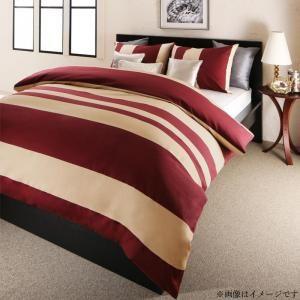 ●ポイント5倍●日本製・綿100% エレガントモダンボーダーデザインカバーリング winkle ウィンクル 布団カバーセット ベッド用 50×70用 ダブル4点セット[00]