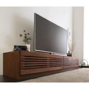 ●ポイント5倍●完成品天然木 ルーバーデザインテレビボード Suare スアレ 幅210cm 奥行33cm[4D][00]
