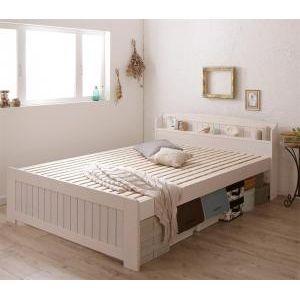 ●ポイント4.5倍●高さ調節出来る棚・コンセント付きすのこベッド Sharlotte シャルロット シングル[1D][00]