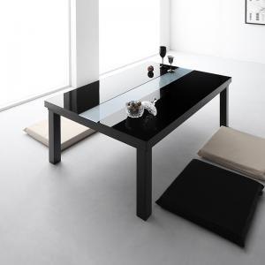 ●ポイント7倍●ワイドサイズ 鏡面仕上げ アーバンモダンデザインこたつテーブル VADIT-WIDE バディットワイド 4尺長方形(80×120cm)[00]
