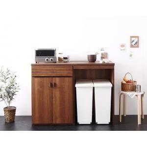 ●ポイント7倍●日本製完成品ごみ箱収納スペース付きキッチンカウンター Contrea コントレア[1D][00]