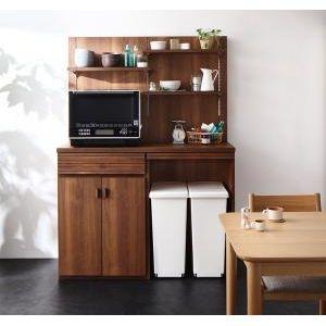 ●ポイント5倍●日本製完成品ごみ箱収納スペース付きキッチンカウンター Contrea コントレア 幅120シェルフパネル付き[1D][00]