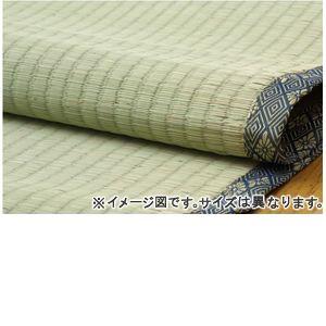 ●ポイント6.5倍●純国産 糸引織 い草上敷 『湯沢』 六一間4.5畳(約277×277cm)【代引不可】 [13]