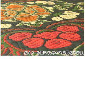 ●ポイント6.5倍●純国産 袋五重織い草マット 『華紋草』 約88×150cm(裏:不織布)【代引不可】 [13]