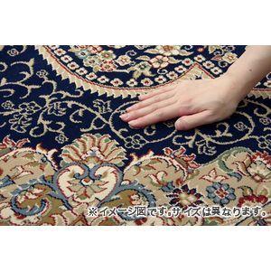 ●ポイント4.5倍●トルコ製 ウィルトン織り カーペット 『ベルミラ RUG』 ネイビー 約240×330cm【代引不可】 [13]
