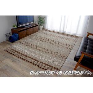 ●ポイント4.5倍●トルコ製 ウィルトン織カーペット 北欧調ラグ ブラウン 約200×250cm【代引不可】 [13]
