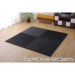 ●ポイント4.5倍●日本製 水拭きできる ポリプロピレン 置き畳 ユニット畳 軽量 軽い シンプル ブラック 67×67×1.7cm (9枚1セット)【代引不可】 [13]
