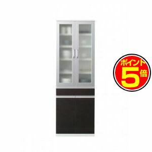 ●ポイント5倍●開梱サービスなし 奥行41cmの薄型モダンデザインキッチン収納 Sfida スフィーダ 食器棚[4D][00]