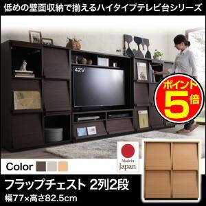 ●ポイント5倍●低めで揃える壁面収納ハイタイプテレビ台シリーズ Flip side フリップサイド フラップチェスト 2列2段[1D][00]