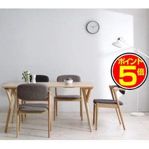 ●ポイント5倍●北欧ナチュラルモダンデザイン天然木ダイニングセット Wors ヴォルス 5点セット(テーブル+チェア4脚) W140[L][00]
