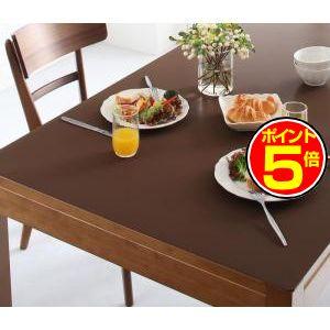 ●ポイント5倍●拭ける・はっ水 本革調モダンダイニングラグ・マット selals セラールス テーブルマット 120×220cm[4D][00]