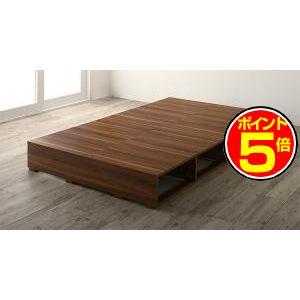 ●ポイント5倍●布団で寝られる おしゃれなヴィンテージ・モダン風 引き出し収納バイカラーベッド ベッドフレームのみ 引き出しなし セミダブル[00]
