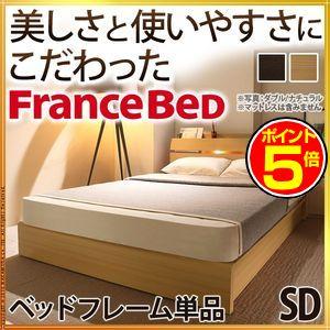 ●ポイント5倍●フランスベッド ライト・棚付きベッド 〔ウォーレン〕 ベッド下収納なし セミダブル ベッドフレームのみ【代引不可】 [11]