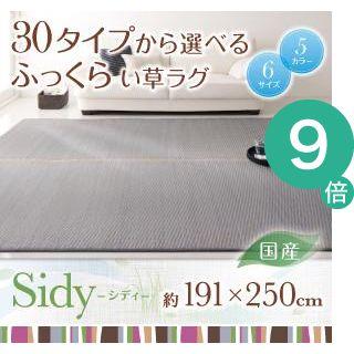 ●ポイント9倍●30タイプから選べる国産ふっくらい草ラグ【Sidy】シディ 191×250cm【代引不可】 [4D] [00]