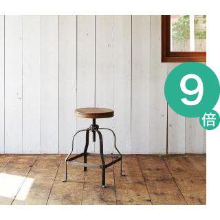 ●ポイント9倍●西海岸テイストヴィンテージデザインダイニング家具シリーズ【Ricordo】リコルド 回転昇降式スツール[1D][00]