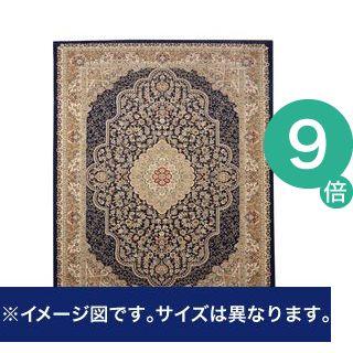 ●ポイント9倍●トルコ製 ウィルトン織り カーペット 『ベルミラ RUG』 ネイビー 約160×230cm【代引不可】 [13]