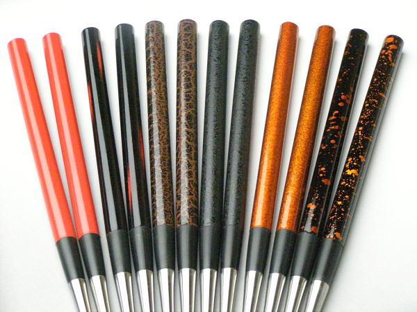 """供高级烹饪使用的筷子盛筷子涂花纹""""黎明""""150mm不锈钢筷子菜bashi"""