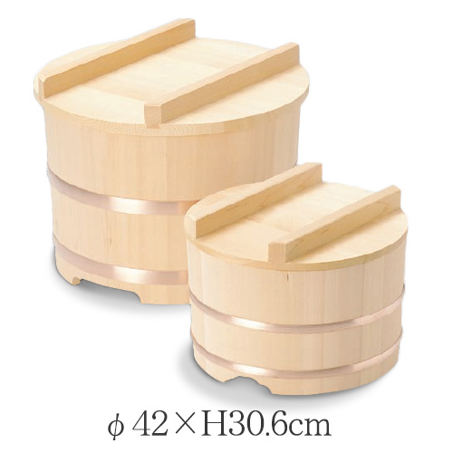 のせびつ 約φ42×H30.6cm お櫃 おひつ 椹 さわら 木 お米 業務用厨房調理用品