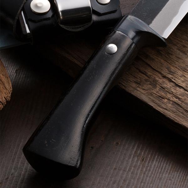 有户外小刀剣鉈黒打白紙鋼150mm东面周作油十完成盒子